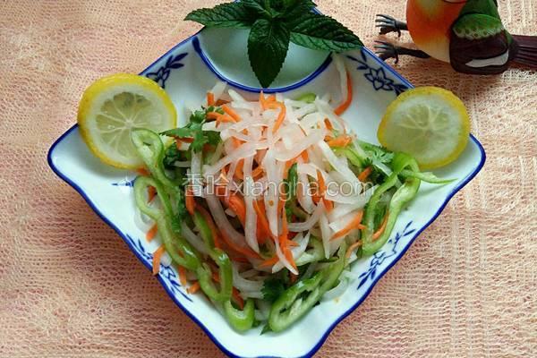 白萝卜丝版老虎菜