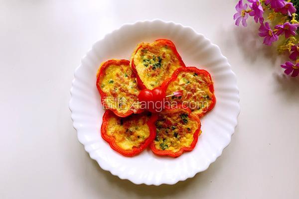 彩椒培根蛋餅圈