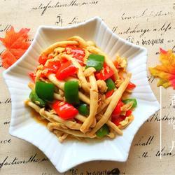 彩椒海鲜菇炒鸡蛋