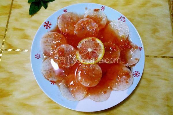 冰花白萝卜片