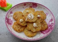 白萝卜玉米粒鸡蛋饼