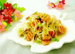 绿豆芽炒火腿肠