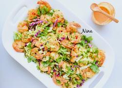 鲜虾卷心菜色拉
