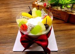 哈密瓜夹心水果蛋糕