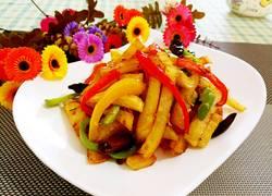 彩椒干煸土豆条