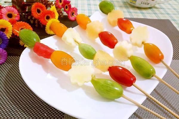 圣女果水果串