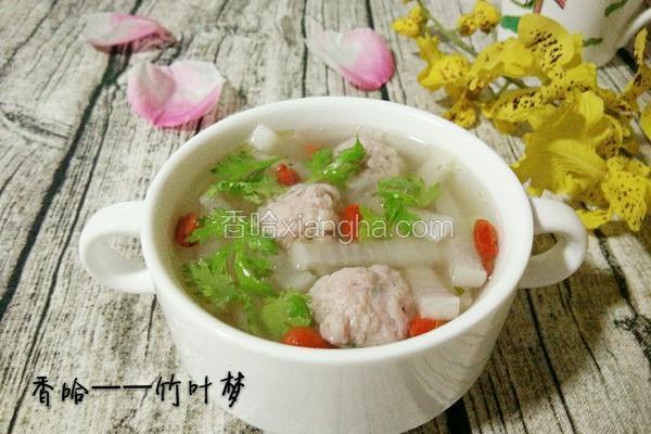 白萝卜肉圆汤