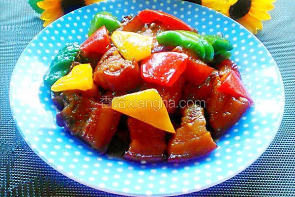 彩椒红烧肉