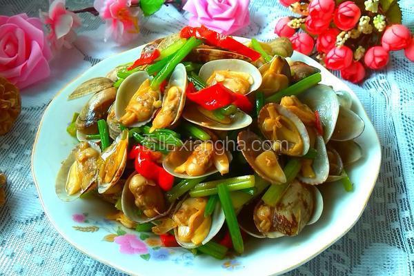 香芹炒蛤蜊