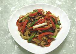 彩椒香菇肉丝