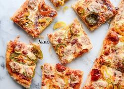 彩椒素披萨
