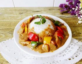 彩椒素咖喱饭[图]