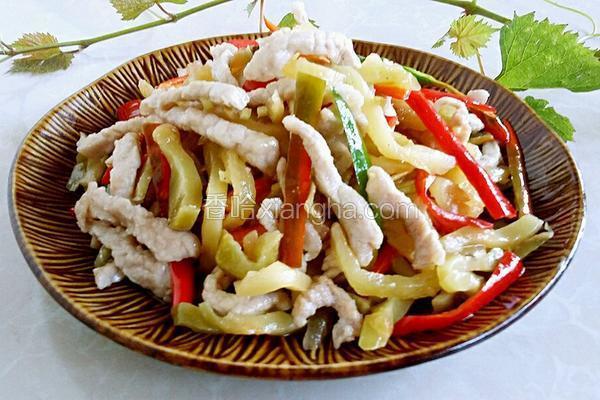 杭椒榨菜炒肉丝