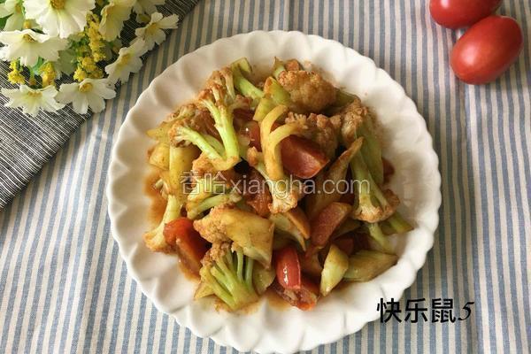 圣女果炒菜花