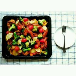柠香蔬菜烤鸡翅