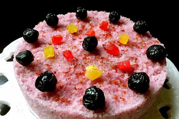 紫薯桂花米松糕
