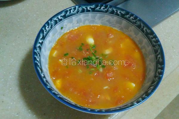 咸鸭蛋西红柿汤