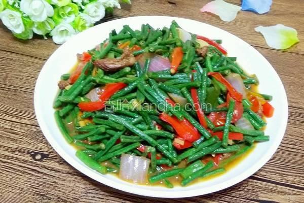猪肉炒豇豆