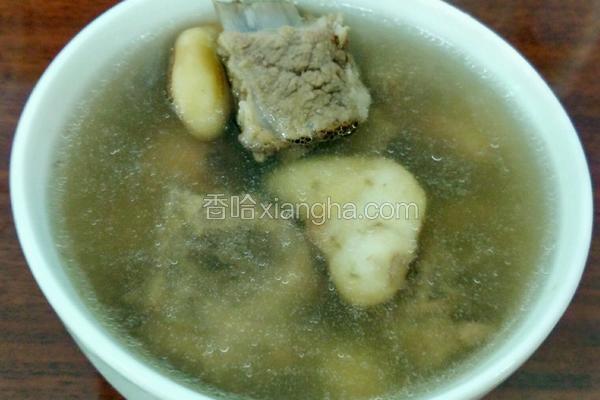 菱角莲子排骨汤