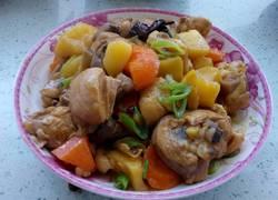 土豆胡萝卜炖鸡腿
