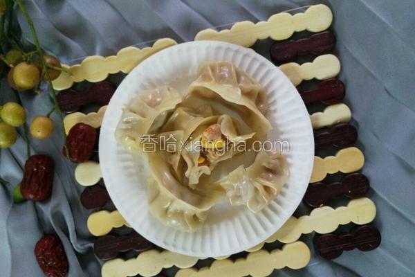 红萝卜玉米香菇肉饺子