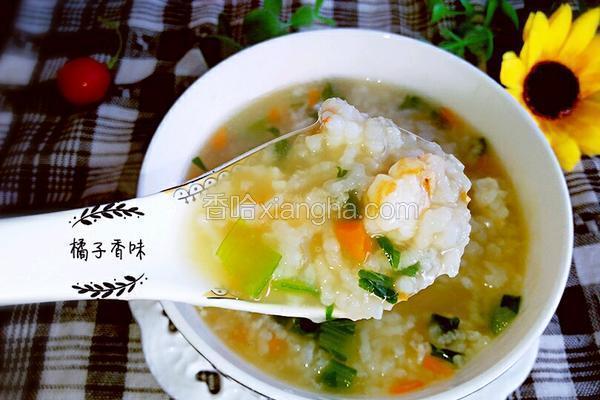 鲜虾大米粥