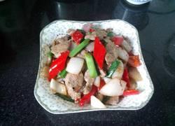 彩椒洋葱炒猪肝