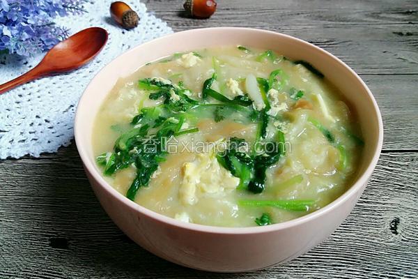 油条小青菜鸡蛋汤