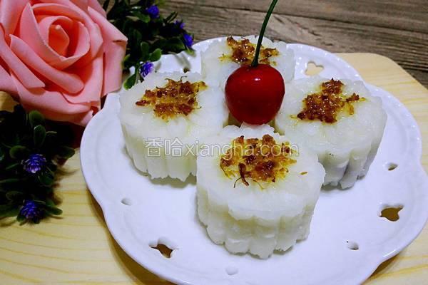 桂花山药豆沙糕
