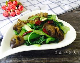 木耳炒青菜[图]
