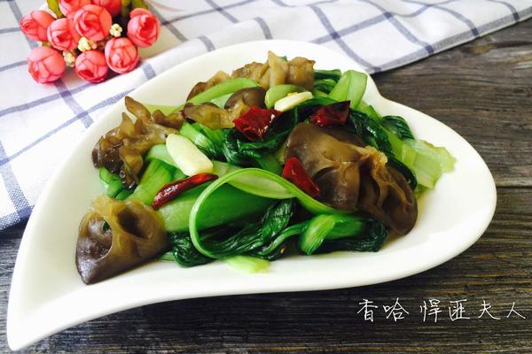 木耳炒青菜