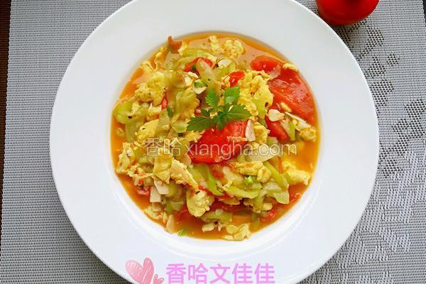 丝瓜蕃茄炒鸡蛋
