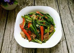 肉片辣炒油麦菜