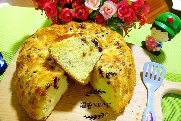 蔓越莓乳酪戚风蛋糕