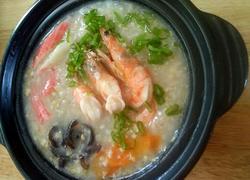 海鲜干贝燕麦粥