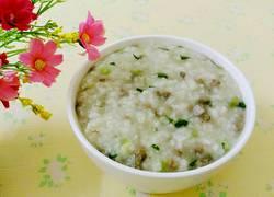 猪肝青菜粥