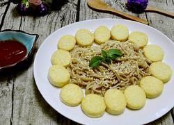 玉子豆腐烩金针菇