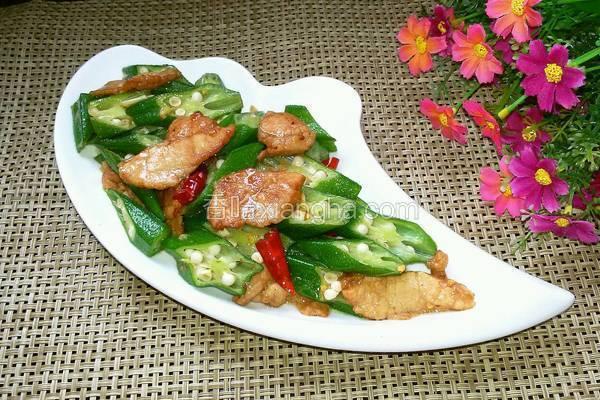 秋葵炒肉片