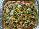 大蝦秋葵披薩的做法[圖]