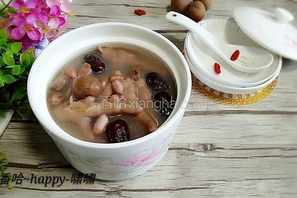 红枣桂圆花生煲鸡爪