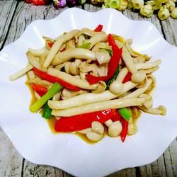 海鲜菇炒鸡丝