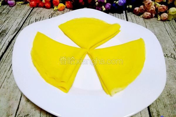牛奶鸡蛋玉米面饼