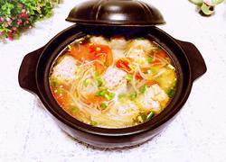 番茄绿豆芽肉丸汤