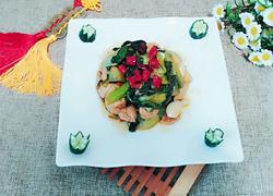 麻辣油菜豆腐泡