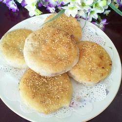 豆沙糯米粉芝麻饼的做法[图]