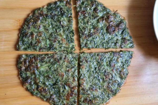 紫苏韭菜饼
