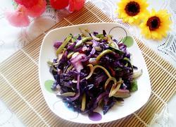 紫甘蓝炒西瓜皮
