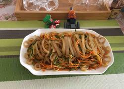 猪皮炒黄瓜胡萝卜