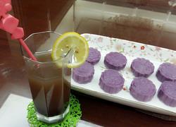 紫薯玫瑰豆沙月饼
