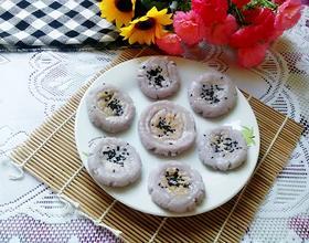 紫甘蓝糯米饼